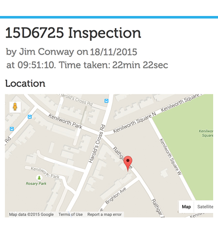 GPS location improves accuracy of inspection data